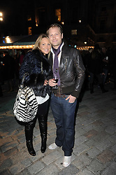 ADELA KING and BEN BLOOMFIELD at a Winter Party given by Tiffany & Co. Europe to launch the 10th season of Somerset House's Ice Skating Rink at Somerset House, The  Strand, London on 16th November 2009.