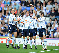 St Andrews Ground Birmingham City v Bolton Wanderers (1-2) Premier League 26/09/2009<br /> Tamir Cohen  (Bolton) celebrates opening goal with Matthew Taylor, Fabrice Muamba Kevin Davies and Samuel Ricketts <br /> Photo Roger Parker Fotosports International
