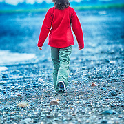 Walking on the beach. Campobello Island. New Brunswick, Canada