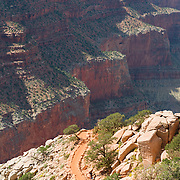South Kaibab Trail In Grand Canyon National Park, Arizona, USA