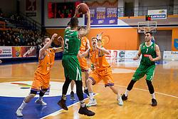 Devin Oliver of KK Petrol Olimpija Ljubljana during basketball match between KK Helios Suns and KK Petrol Olimpija in Playoffs of Liga Nova KBM 2017/18, on March 26, 2018 in Hala Kominalnega Centra, Domzale, Slovenia. Photo by Urban Urbanc / Sportida