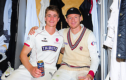 Chris Rogers of Somerset , who retired today poses for photo with Tom Abell.   - Mandatory by-line: Alex Davidson/JMP - 22/09/2016 - CRICKET - Cooper Associates County Ground - Taunton, United Kingdom - Somerset v Nottinghamshire - Specsavers County Championship Division One