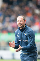 Dunfermline's manager Allan Johnston. Falkirk 2 v 1 Dunfermline, Scottish Championship game played 15/10/2016, at The Falkirk Stadium.
