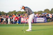 Bernd Wiesberger (AUT) putts on the 18th green to win the play-off of the Aberdeen Standard Investments Scottish Open at The Renaissance Club, North Berwick, Scotland on 14 July 2019.