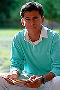MEXICO, PORTRAITS, MEXICO CITY Male college student