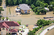 Flooding  in Livingston Parrish Louisiana, following a record breaking rainfall leading to a 1000-year flood.