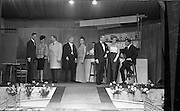 28/03/1963<br /> 03/28/1963<br /> 28 March 1963<br /> DAKs Men's style fashion show at the Gresham Hotel, Dublin. Models are Ken Swift? Yvonne Berry; Gordon Hale; George McGrath; Grace O'Shaughnessy; Rodney Lovick Suzanne McDougald and Peter Christian?