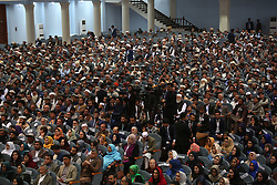 May 3, 2019 - Kabul, Afghanistan - Representatives are present on the last day of the consultative Loya Jirga in Kabul, capital of Afghanistan. Afghan President Mohammad Ashraf Ghani once again called upon the Taliban group to give up fighting and join the peace process to end the war in Afghanistan as the consultative Loya Jirga or grand assembly of elders and chieftain concluded here on Friday. (Credit Image: © Rahmat Alizadah/Xinhua via ZUMA Wire)