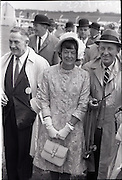 """26/06/1965<br /> 06/26/1965<br /> 26 June 1965<br /> Irish Sweeps Derby at the Curragh Race Course, Co. Kildare. Image shows Mrs Frank McMahon and Bing Crosby joint owners of Derby winner """"Meadow Court"""" after the race."""