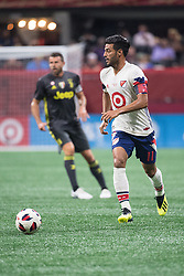 August 1, 2018 - Atlanta, Georgia, United States - MLS All-Star forward CARLOS VELA, 11, (Los Angeles FC) dribbles the ball during the 2018 MLS All-Star Game at Mercedes-Benz Stadium in Atlanta, Georgia.  Juventus F.C. defeats  MLS All-Stars defeat  1 to 1  (Credit Image: © Mark Smith via ZUMA Wire)