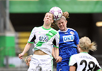 Football Women Champions League VfL Wolfsburg 1 FFC Turbine Potsdam v left Verena Faisst VfL Wolfsburg Maren Mjelde 1 FFC Turbine Potsdam in duel Duel Duel Tackle <br /> Norway only