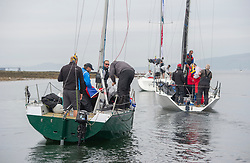 Day 2 Sailing, SCOTLAND<br /> <br /> Vessels leaving Kip Marina, <br /> Class Lady Ex, Extrovert 22, GBR6305C,  Phoenix Quarter Tonner GBR8700R<br /> <br /> <br /> The Scottish Series, hosted by the Clyde Cruising Club is an annual series of races for sailing yachts held each spring. Normally held in Loch Fyne the event moved to three Clyde locations due to current restrictions. <br /> <br /> Light winds did not deter the racing taking place at East Patch, Inverkip and off Largs over the bank holiday weekend 28-30 May. <br /> <br /> Image Credit : Marc Turner / CCC