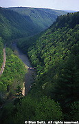 Pine Creek Gorge, PA landscapes, Aerial, Pine Creek, Rails to Trails, Tioga Co., PA Aerial Photograph Pennsylvania