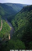 Pine Creek Gorge, PA landscapes, Aerial, Pine Creek, Rails to Trails, Tioga Co., PA Aerial Photograph Pennsylvania