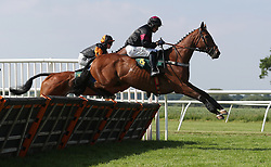 Paddocks Lounge ridden by Sean Quinlan the Racing UK Club Day Handicap Hurdle at Bangor-on-Dee Racecourse. PRESS ASSOCIATION Photo. Picture date: Tuesday June 5, 2018. See PA story RACING Bangor. Photo credit should read: David Davies/PA Wire