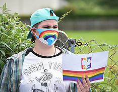 LGBTQ protest at Polish Consulate, Edinburgh, 10 August 2020