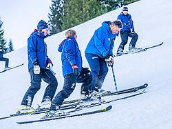10.01.2020, Streif, Kitzbühel, AUT, FIS Weltcup Ski Alpin, Schneekontrolle durch die FIS, im Bild v.l. Mario Mittermayer-Weinhandl (HKR Rennleiter), Herbert Hauser (Pistenchef Streif), Hannes Trinkl (FIS Renndirektor) // f.l. Mario Mittermayer-Weinhandl race direktor HKR Herbert Hauser slope Manager Streif and Hannes Trinkl FIS Racedirector during snow control by the FIS for the FIS ski alpine world cup at the Streif in Kitzbühel, Austria on 2020/01/10. EXPA Pictures © 2020, PhotoCredit: EXPA/ Stefan Adelsberger