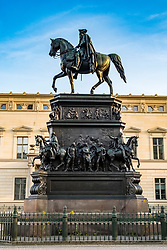 Statue of Frederick the Great (II) on Under den Linden in Berlin , Germany