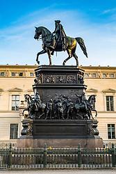 Statue of Frederick the Great (II) on Under den Linden in Berlin , Germany
