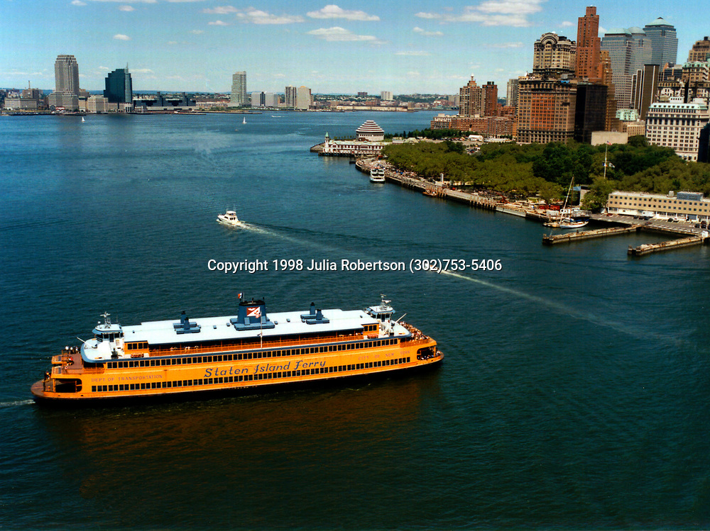 Aerial photograph of the Staten Island Ferry