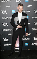 Sam Smith, Alexander McQueen Savage Beauty - private view, Victoria & Albert Museum, London UK, 14 March 2015, Photo by Richard Goldschmidt