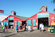 Tourists Going Through the OC Fair Livestock  Barns