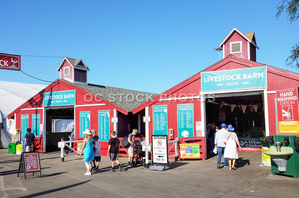 Tourists Going Through the OC Fair Livestock  Barns