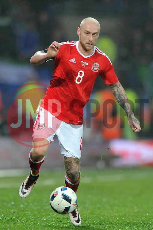 David Cotterill of Wales - Mandatory by-line: Dougie Allward/JMP - Mobile: 07966 386802 - 24/03/2016 - FOOTBALL - Cardiff City Stadium - Cardiff, Wales - Wales v Northern Ireland - Vauxhall International Friendly