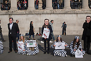 Take Back Education peceful demonstration by Middlesex University students outside the National Gallery, Trafalgar Sq. London. 17 March 2016