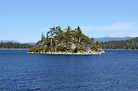 "Fannette Island, Emerald Bay State Park, is the only island in Lake Tahoe, USA. Lake Tahoe itself is split roughly vertical between California, West, and Navada, East.  Over a long period of time, Fannette Island has called many different names, including Coquette, Fanette, Baranoff, Dead Man's, Hermit's, and Emerald Isle. The island contains what is left of ""Tea House"", a building constructed by the owner of Vikingsholm, Mrs. Lora Josephine Knight. 201304261870<br /> <br /> Copyright Image from Victor Patterson, 54 Dorchester Park, Belfast, UK, BT9 6RJ<br /> <br /> Tel: +44 28 9066 1296<br /> Mob: +44 7802 353836<br /> Voicemail +44 20 8816 7153<br /> Skype: victorpattersonbelfast<br /> Email: victorpatterson@me.com<br /> Email: victorpatterson@ireland.com (back-up)<br /> <br /> IMPORTANT: If you wish to use this image or any other of my images please go to www.victorpatterson.com and click on the Terms & Conditions. Then contact me by email or phone with the reference number(s) of the image(s) concerned."