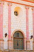 The main entrance at the Santa Barbara Mission (Queen of the missions), Santa Barbara, California