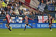 Sheffield United midfielder John Fleck (4) celebrates after scoring a goal 0-1 during the EFL Sky Bet Championship match between Sheffield Wednesday and Sheffield Utd at Hillsborough, Sheffield, England on 24 September 2017. Photo by Adam Rivers.