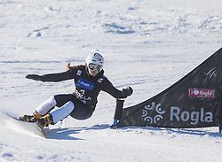 Kotnik Gloria during the women's Snowboard giant slalom of the FIS Snowboard World Cup 2017/18 in Rogla, Slovenia, on January 21, 2018. Photo by Urban Meglic / Sportida
