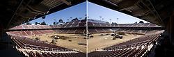 Stanford Stadium construction.