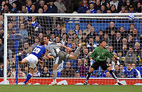 Photo: Ashley Pickering/Sportsbeat Images.<br /> Ipswich Town v Bristol City. Coca Cola Championship. 10/11/2007.<br /> David Wright (L) heads in the second for Ipswich as Bristol goalie Adriano Basso looks on
