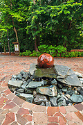 The Swiss Granite Fountain at the Singapore Botanic Gardens, Singapore, Republic of Singapore