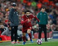 Mohamed Salah of Liverpool in action during the UEFA Champions League match at Anfield, Liverpool. Picture date: 11th March 2020. Picture credit should read: Darren Staples/Sportimage