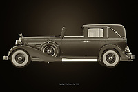 Cadillac V16 Town car 1933<br /> The 1933 Cadillac V16 Town car was the most prestigious car that drove around the United States during the 1930s. <br /> <br /> Here a black and white version of the Cadillac V16 Town car 1933. –<br /> <br /> BUY THIS PRINT AT<br /> <br /> FINE ART AMERICA<br /> ENGLISH<br /> https://janke.pixels.com/featured/cadillac-v16-town-car-1933-black-and-white-jan-keteleer.html<br /> <br /> WADM / OH MY PRINTS<br /> DUTCH / FRENCH / GERMAN<br /> https://www.werkaandemuur.nl/nl/shopwerk/Cadillac-V16-Town-car-1933/742770/132?mediumId=11&size=75x50<br /> <br /> -
