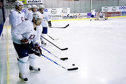 Mitja Sivic at first practice of Slovenian National Ice hockey team before World championship of Division I - group B in Ljubljana, on April 5, 2010, in Hala Tivoli, Ljubljana, Slovenia.  (Photo by Vid Ponikvar / Sportida)