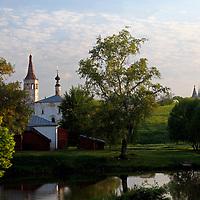 Europe, Russia, Suzdal. Landscape scene of Suzdal and the Kamenka River.