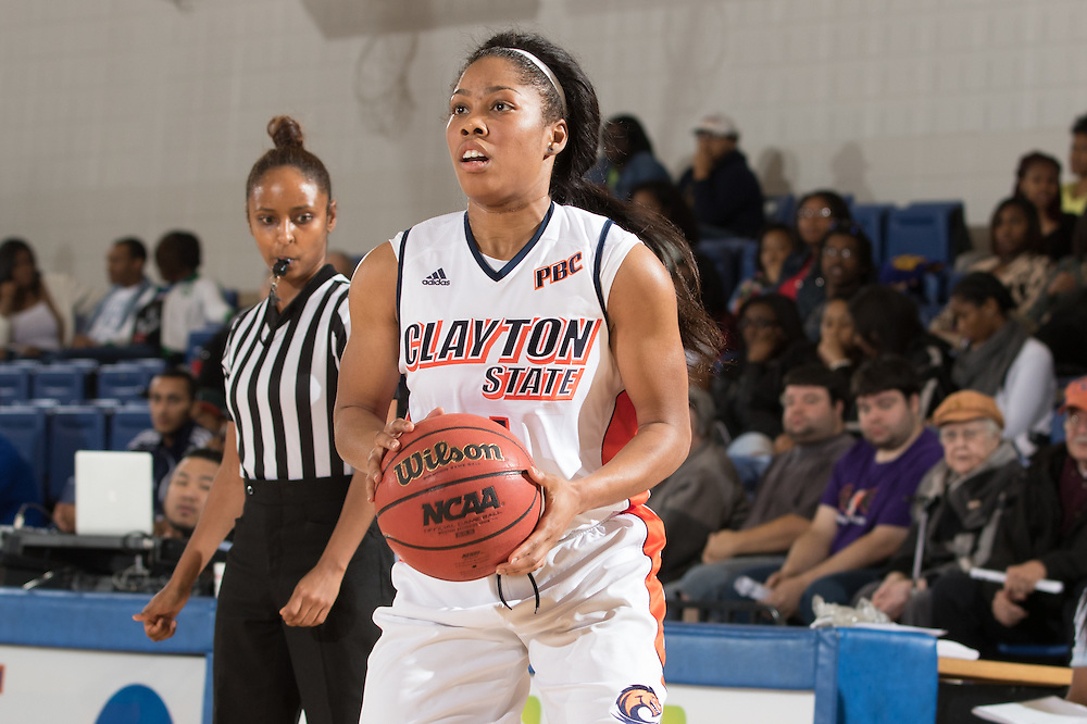 Dec. 3, 2014; Morrow, GA, USA; CSU's Yishica Sims (24) in action against Fort Valley State at CSU. Clayton State won 87-73. Photo by Kevin Liles / kevindliles.com