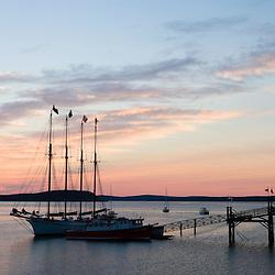 Sunrise in Bar Harbor near Acadia National Park Maine USA