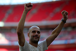 Manchester City manager Pep Guardiola at full time
