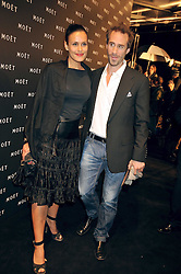 JOSEPH FIENNES and MARIA DOLORES DIEGUEZ at the Moet & Chandon Tribute to Cinema party held at the Big Sky Studios, Brewery Road, London N7 on 24th March 2009.