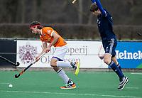 BLOEMENDAAL -  Florian Fuchs (Bldaal)   .oefenwedstrijd hockey heren, Bloemendaal H1- Pinoke H1 (3-2).  COPYRIGHT KOEN SUYK