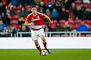 Middlesbrough defender Bernardo Espinosa (5)  on the ball during the The FA Cup match between Middlesbrough and Sheffield Wednesday at the Riverside Stadium, Middlesbrough, England on 8 January 2017. Photo by Simon Davies.