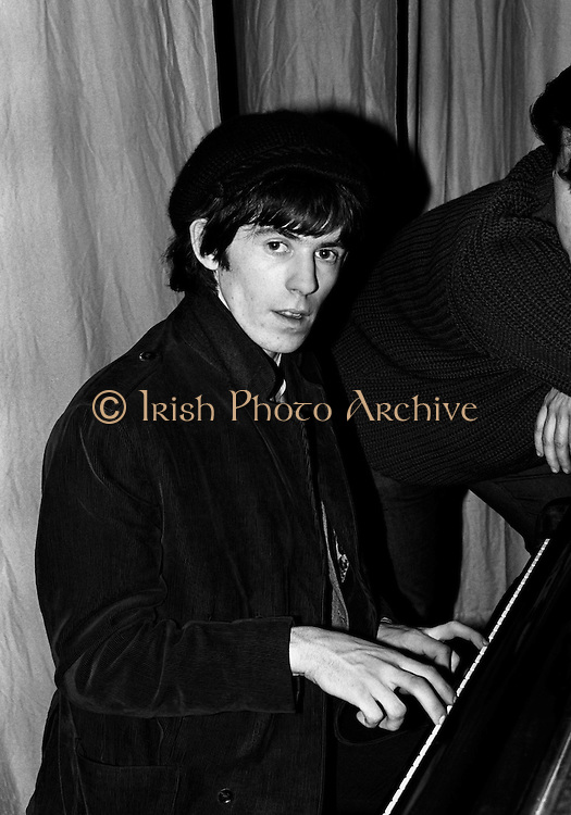 The Rolling Stones Charlie is my Darling - Ireland 1965 - Keith Richards entertains at The Rolling Stones press conference at the Adelphi Theatre, Middle Abbey Street, Dublin. This was the band's first Irish tour of 1965....07/01/1965.<br />