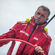 Leg 4, Melbourne to Hong Kong, day 11 on board MAPFRE, Rob Greenhalgh. Photo by Ugo Fonolla/Volvo Ocean Race. 11 January, 2018.