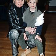 Premiere Sesamstraat Live Den Haag, Marleen Houter met zoon Hassie