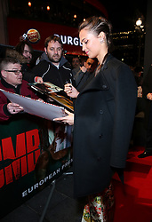 Alicia Vikander attending the Tomb Raider European Premiere held at Vue West End in Leicester Square, London.